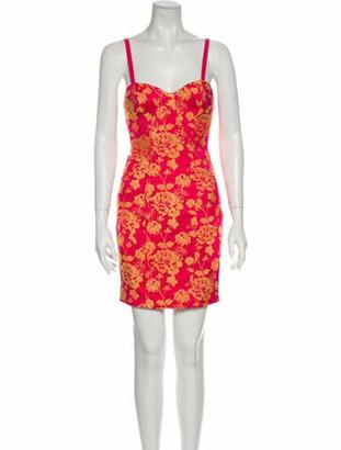 Cinq à Sept Floral Print Mini Dress w/ Tags Pink