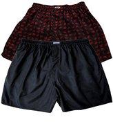 2 x Beautiful Underwear Sleep Wear 100% Thai Silk Blend Boxer Shorts Elephants Style (SIZE : 31-33 Inches)