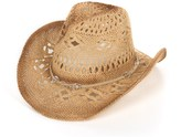 Dorfman Pacific Headwear Tropical Trends Toyo Straw Western Hat - Beaded Crown Band (For Women)