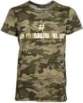Balmain Camouflage Print Logo T-shirt
