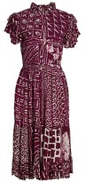 Thumbnail for your product : Busayo Febi Ruffle Sleeve Printed Dress