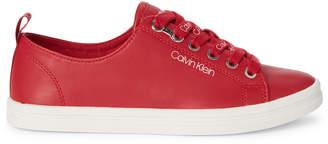 Calvin Klein Crimson Red Maraselle Low-Top Sneakers