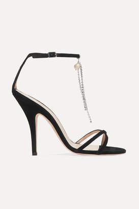Magda Butrym Ireland Embellished Suede Sandals - Black