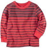 Carter's Boys 4-8 Red Long Sleeve Striped Tee