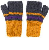Maison Margiela colour-block knitted gloves