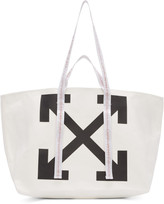 Off-White White Canvas Arrows Commercial Tote