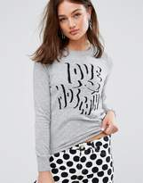 Love Moschino Bubble Font Cashmere Wool Mix Jumper