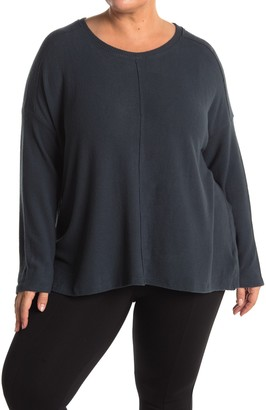 H By Bordeaux Seamed Brushed Hacci Sweater (Plus Size)