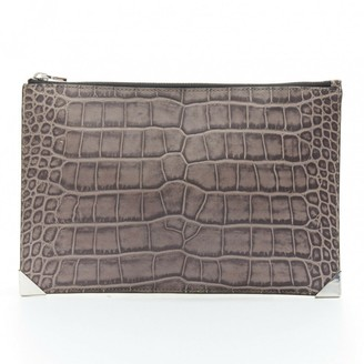 Alexander Wang Prisma Silver Leather Clutch bags