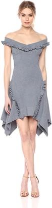 C/Meo Women's Iridescent Knit Off Shoulder Dress