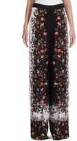 Erdem Women's Birte Convertine Rose Wide-Leg Trousers