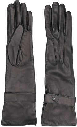 Manokhi Textured Style Buttoned Gloves