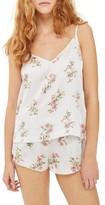 Topshop Women's Garden Flower Camisole & Short Pajamas