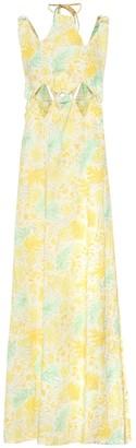Cult Gaia Sabine floral linen maxi dress