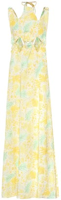 Cult Gaia Sabine floral linen maxi dress