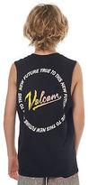 Volcom New Boys Kids Boys Kurrent Muscle Tee Crew Neck Cotton Black
