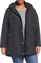 MICHAEL Michael Kors Plus Size Women's Snap Front Hooded Jacket
