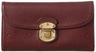 Louis Vuitton Burgundy Mahina Leather Amelia Wallet