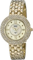 Burgi Women's BUR125YG Analog Display Japanese Quartz Gold Watch
