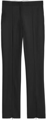 Arket Slim Stretch Wool Blend Trousers