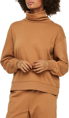 AWARE BY VERO MODA Mercy Organic Cotton Turtleneck Pullover