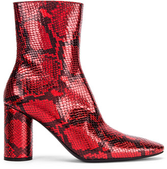 Balenciaga Oval Snake Booties in Red | FWRD
