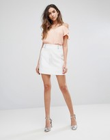 New Look Eyelet Mini Skirt