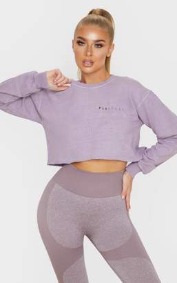 PrettyLittleThing Mauve Cropped Sports Sweat