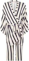 Chelsea Peers Striped kimono robe