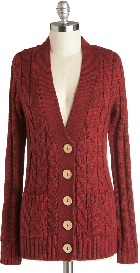 Your Fireside of the Story Cardigan in Rust