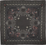 Givenchy Black Monkey Brothers Scarf