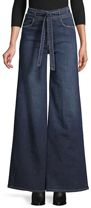 Frame Le Palazzo Belted Jeans