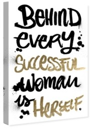 "Oliver Gal Successful Woman Canvas Art, 24"" x 36"""