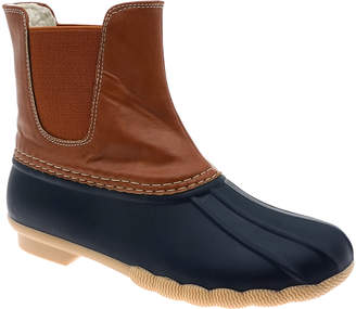 Outwoods OUTWOODS Women's Cold Weather Boots navy/tan - Navy & Tan Chelsea Duck Boots - Women