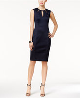 GUESS Cutout Perforated Sheath Dress