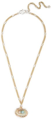 WALD BERLIN Gold-Plated Drop It Like It'S Hot Shell Necklace