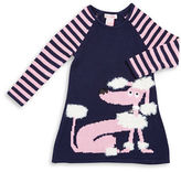 Design History Girls 2-6x Poodle Sweater Dress