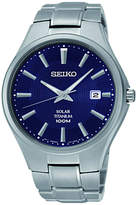 Seiko Sne381p9 Titanium Bracelet Strap Watch, Grey/blue