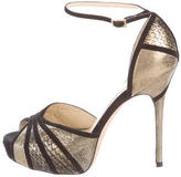 Jimmy Choo Metallic Platform Sandals