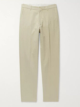 ODYSSEE Holts Cotton And Silk-Blend Trousers