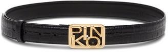 Pinko Narrow Belt Withg Logo Buckle