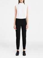 DKNY Silk Mock Neck Shirt