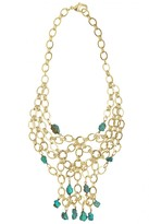 L. GEORGE Turquoise Embellished Brass Necklace