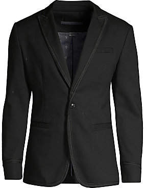 John Varvatos Men's Regular-Fit Cord Trim Peak Lapel Jacket