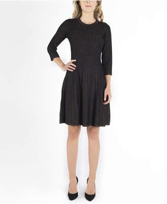 Nanette Lepore nanette 3/4 Sleeves Jewel Neckline Fit and Flare Dress