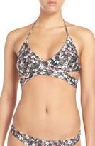 Vix Paula Hermanny Women's 'Liberty' Floral Print Wrap Bikini Top