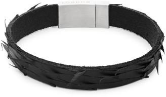 Tateossian Leather & Stainless Steel Bracelet