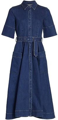 Co Essentials Belted Denim Shirtdress