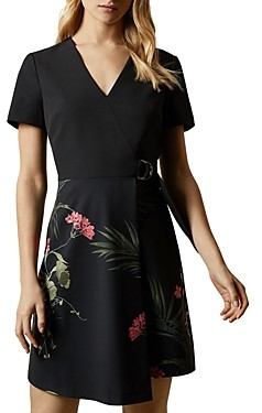 Ted Baker Mizalia Highland Faux-Wrap Dress