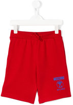 Moschino Kids - logo print track shorts - kids - Cotton - 4 yrs